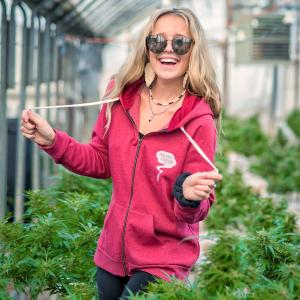 Growin the Vibe Red Zip Up Hoodie- Appalachian Standard