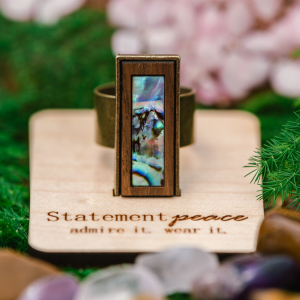 Abalone Ring Provisions by Statement Peace Jewelry from Appalachian Standard