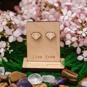 Diamond Stud Earrings by Statement Peace
