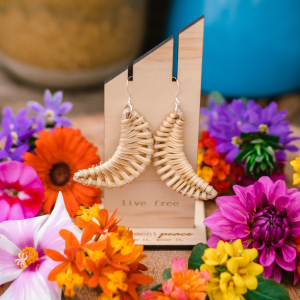 Wicker Moons Earrings by Statement Peace Jewelry and Provisions from Appalachian Standard