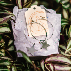 Simple Star Hoops by New Moon Magic